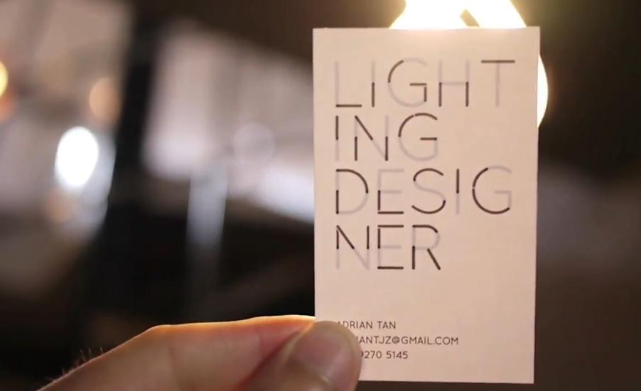 遇光化神奇:燈光設計師的創意名片